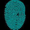 icon fingerprint 100 pixel turquoise